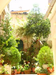 Courtyard in Corfu, Greece
