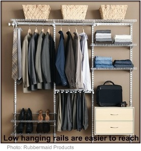 Accessible home design closet