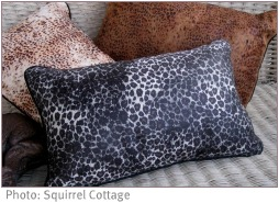african style pillows with animal print
