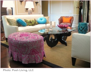tips for interior decorating pink ottoman