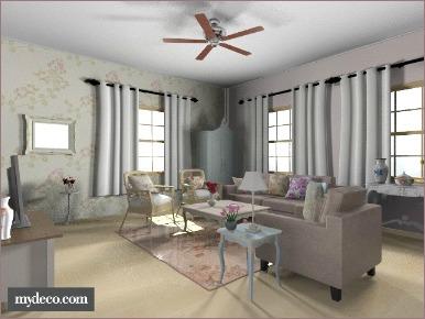 cottage decorating living room