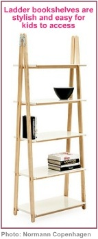 decorating for kids ladder bookshelf