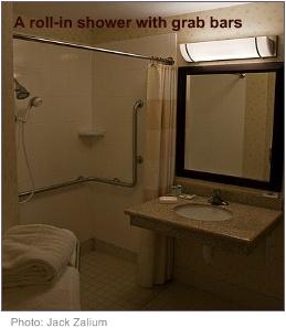 Disabled bathrooms handicapped shower