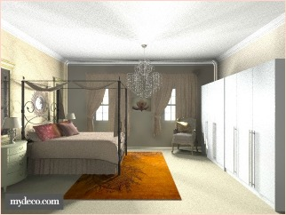 decor glamour bedroom