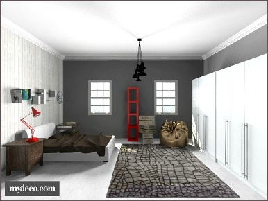 industrial decor bedroom