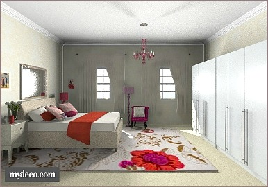 romantic home decorating bedroom