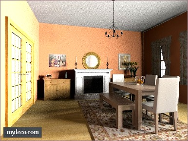 Tuscan decor dining room