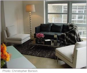 Glamorous modern living room