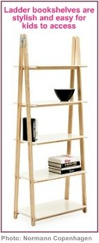 decorating for kids ladder bookshelf
