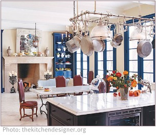 ideal spacing in a kitchen setting